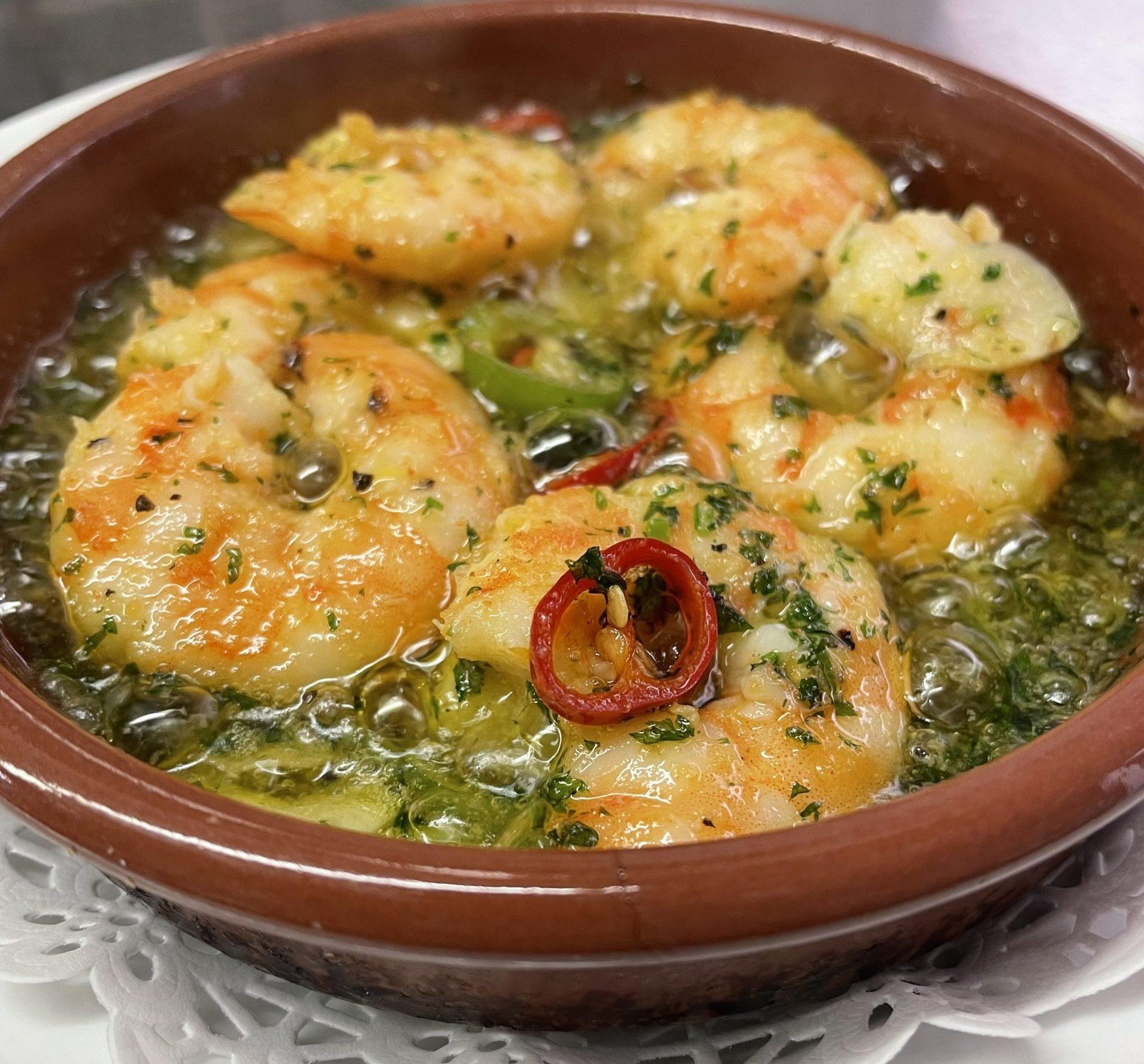 Chilli & Garlic Prawn Pil